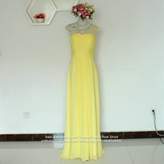 Amazing Beaded New Yellow A Line