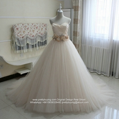 Champagne Sweetheart Ball Gown