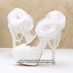 New Popular Lace Pearl High Heel
