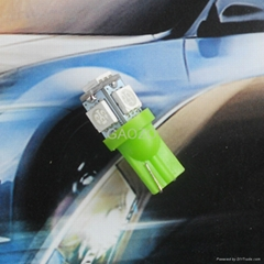 Auto spares LED Green T10(5*5050