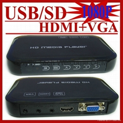 Full HD 1080P USB HDD Media Player