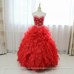 Luxury Sweetheart Ruffled Heavy