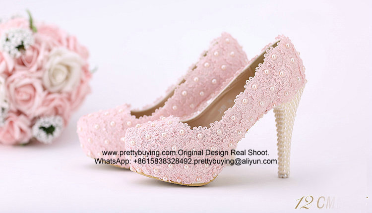 New Sexy White Lace Wedding Shoes Bridal Shoes Party Shoes S03