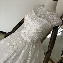 Ella Bridal Dress Silver Lace Ball