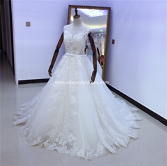Big Ball Gown Lace Wedding Dress