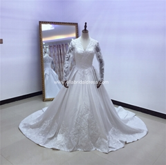 Royal Classic Satin Wedding Gown V