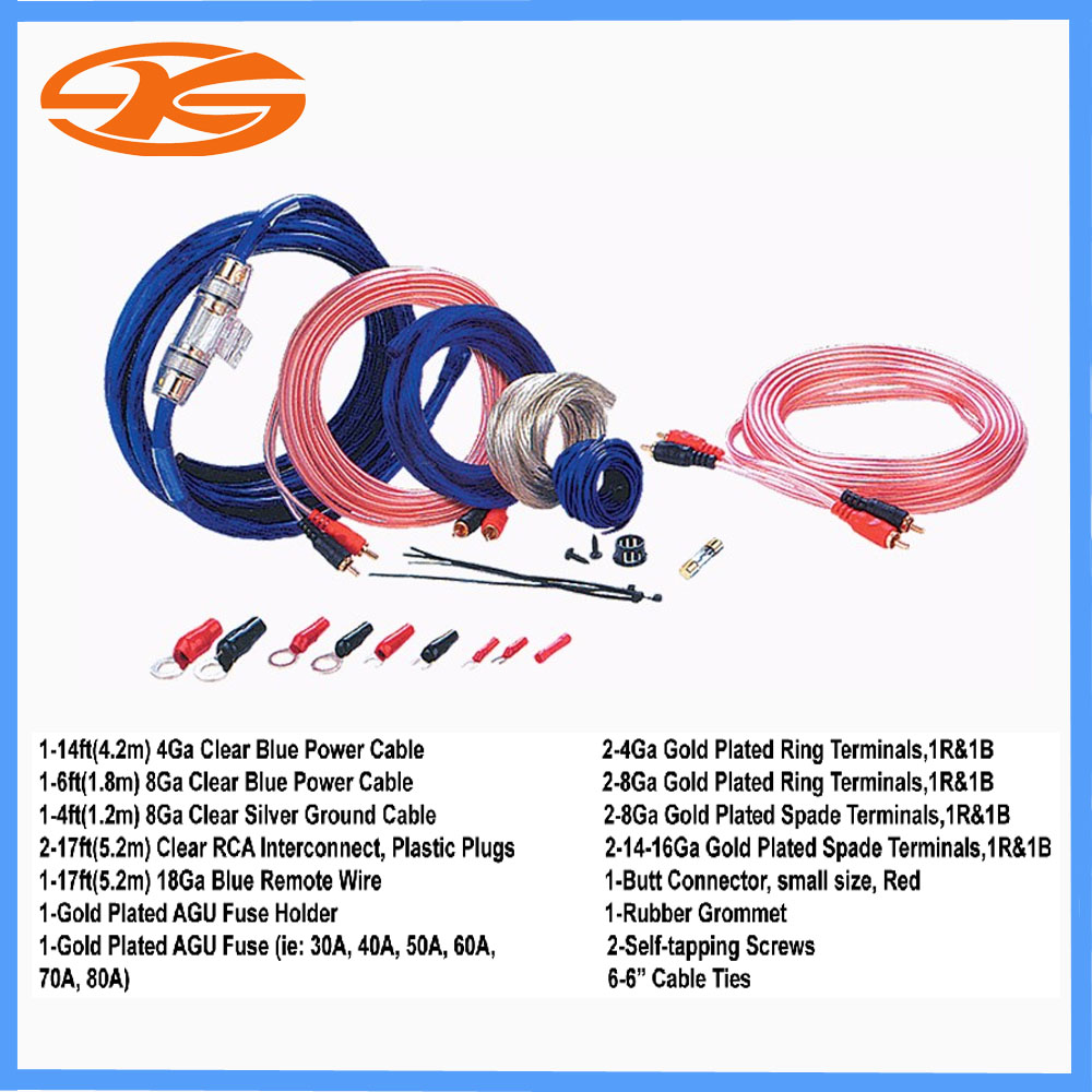 4ga And 8ga 2000w Car Audio Wire Wiring Amplifier Subwoofer Speaker Product Image