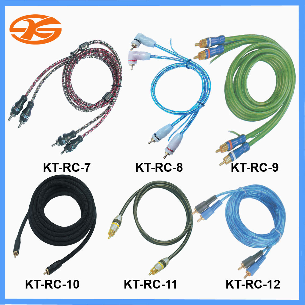 KT-RC7 to 12,Car audio RCA cable dvd cable,5M RCA cable,RCA cable
