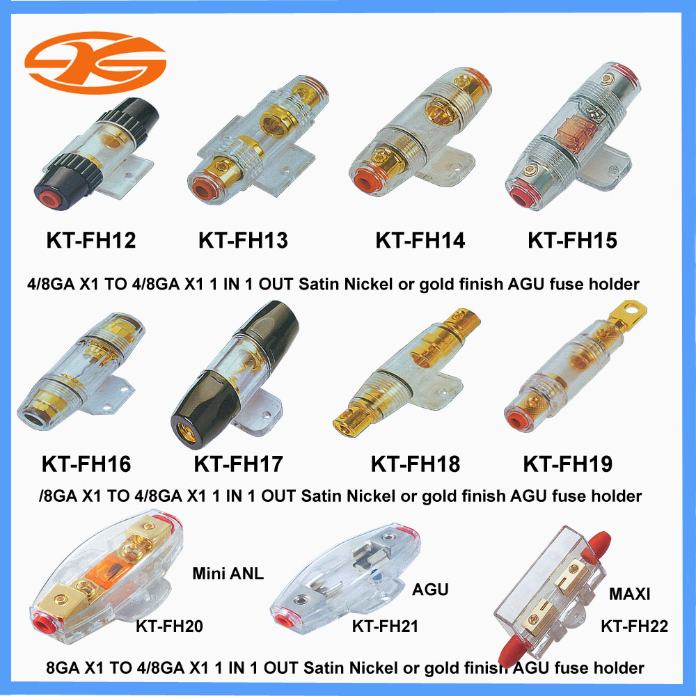 Audio Fuse Box Wiring Library Diagram 94 Ls1 Fleetwood Kt Fh12 22 Holder For Car System Auto Boxfuse Product Image