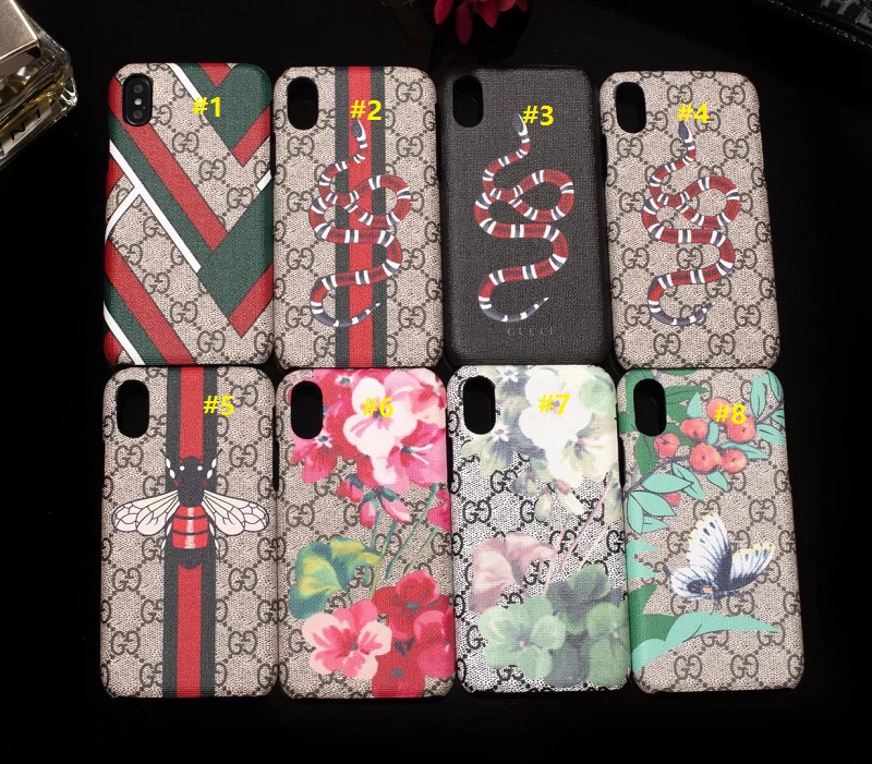 reputable site e746f 98893 Gucci oil coating shell snake butterfly bee phone case hard back cover
