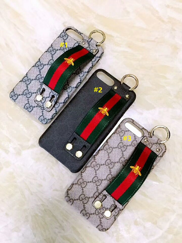 1da6536e3 XR XS MAX Gucci hand strap with slipknot holder phone case back soft